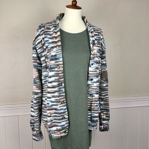 Sweaters - Handmade Marble Button Up Cardigan Size Medium